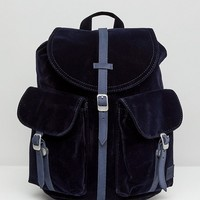 Herschel Dawson Navy Velvet Backpack at asos.com