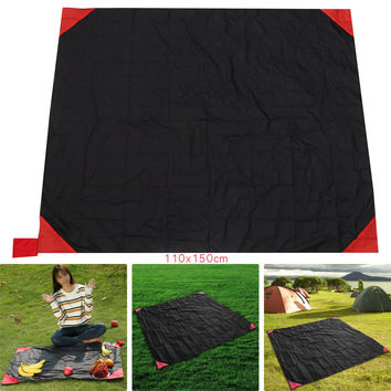 44x63 inches Waterproof Pocket Sized Picnic Beach Blanket Outdoor Camping Mat