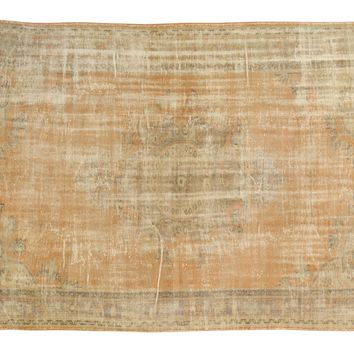 6.5x10.5 Vintage Distressed Oushak Carpet