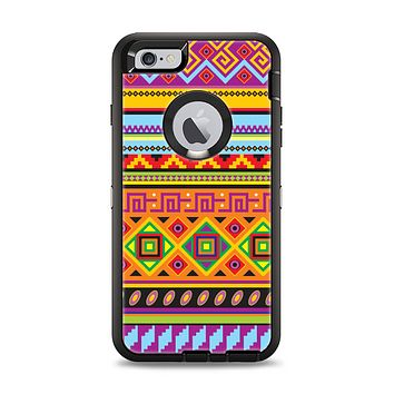 The Vector Gold & Purple Aztec Pattern V32 Apple iPhone 6 Plus Otterbox Defender Case Skin Set