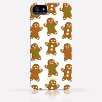 Christmas Gingerbread Men Pattern iPhone 6 Case iPhone 5 Case iPhone 5C Case iPhone 4 Case Samsung Galaxy s5 Case iPhone Hard Plastic Case