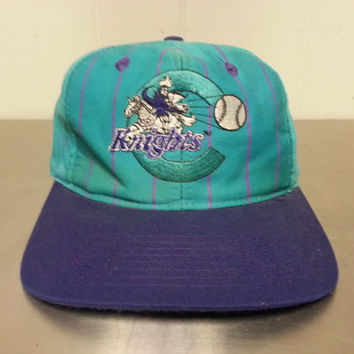 vintage minor league baseball hats knights dad hat local sports team teal