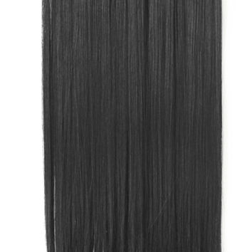 "22"" One Piece Hair Extension Straight (1 Jet Black)"