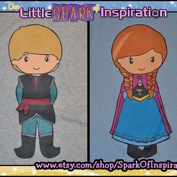 Fairytale Cuties Frozen - Kristoff & Anna Couples Shirts Commission
