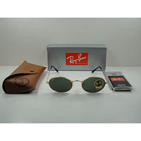 RAY-BAN OVAL FLAT SUNGLASSES RB3547N 001 GOLD FRAME/GREEN CLASSIC LENS 51MM