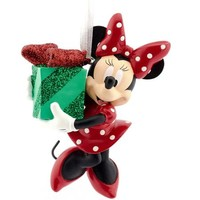 Hallmark Disney Minnie Mouse with Gift Christmas Ornament - Walmart.com