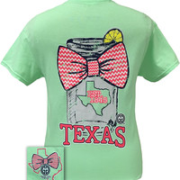 Girlie Girl Originals Texas Chevron Mason Jar Preppy State Bow Bright T Shirt