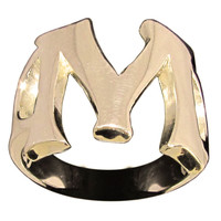 Capital Initial M Ring Block Letter in Bronze