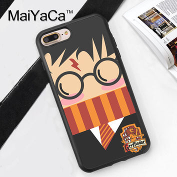 Harry Potter Griffindor Printed Soft Rubber Phone Cases For iPhone 6 6S Plus 7 7 Plus 5 5S 5C SE 4 4S Back Cover Skin Shell