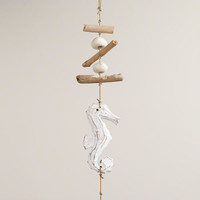 Whitewashed Seahorses Hanging on String - World Market