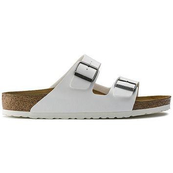 Birkenstock Arizona Birko Flor White 0552681/0552683 Sandals - Ready Stock