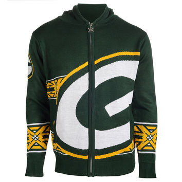 Green Bay Packers Full Zip Hooded Sweatshirt