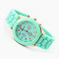 Mint Color Silicone Watch EW007