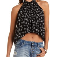 Multi Floral Print Swing Halter Top by Charlotte Russe
