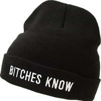 Married To The Mob Knowing Black Fold Beanie