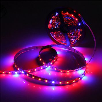 5050 Grow LED Flexible Strip Tape Light 4:1 4 Red 1 Blue Aquarium Greenhouse Hydroponic Plant Growing Lamp 60led m 1 2 3 4 5M