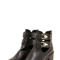 Jenny Clip Buckle Block Heel Ankle Boot