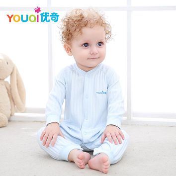 YOUQI Lovely Baby Clothes Baby Boy Rompers Girls Jumpsuit Clothing Toddler Infantil Spring Fall Pajamas Clothes For Baby Outfits
