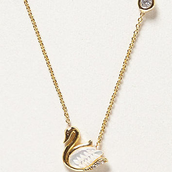 Swan Story Necklace