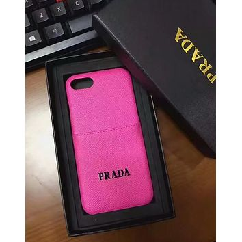 PRADA 2018 new men and women with the same iphoneX mobile phone case cover F-OF-SJK #6