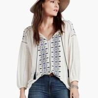 Embroidered Peasant Top | Lucky Brand