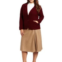 Pendleton Women's Plus-Size Bettina Boiled Blazer
