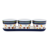 Disney Parks Food Icons Mickey and Friends Appetizer Set New with Box