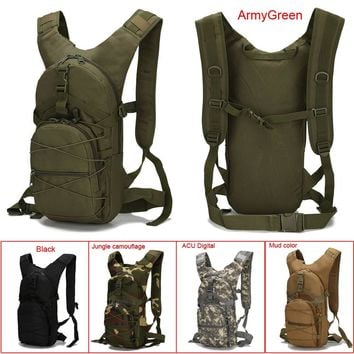 15L Outdoor Riding Backpack Sports Bags 3P Tactical Camouflage Oxford Bicycle Backpacks Women Men Cycling Running Rucksack
