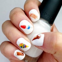Retro Ice Cream Nail Transfers by obscuraoutfitters on Etsy