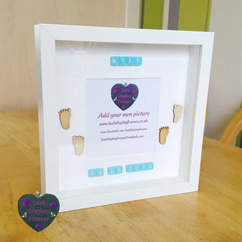 BABY Gifts, Personalised, footprints,  new Baby boy gifts, congratulations gifts, photo gifts, new parents, bundle of joy, FREE P&P