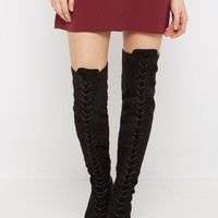 Black Lace-Up Over-The-Knee Boots | Over the Knee Boots | rue21