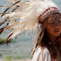White Feather Crown Headdress