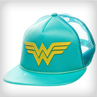 Wonder Woman Turquoise Trucker Hat
