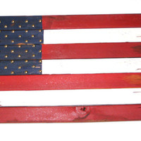 Wooden US Flag Reclaimed Wood Old American Flag United States Flag Wall Hanging Handmade Historic USA Flag 4th Of July Red White And Blue