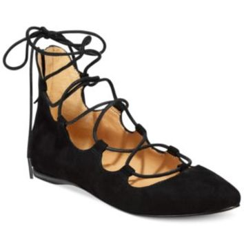 Nine West Signmeup Lace-Up Flats | macys.com