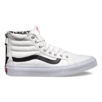 Vans Leather SK8-Hi Slim Zip (true white/snow leopard)