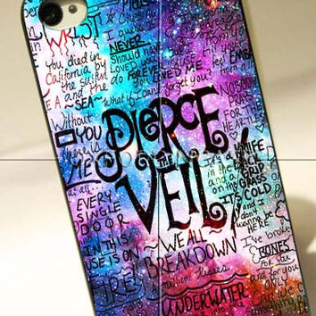 Pierce The Veil Lyric Logo Quote Galaxy - for iPhone 4/4S case iPhone 5 case Samsung Galaxy S2/S3/S4 case hard case