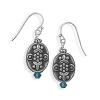 Floral Bead Fashion French Wire Earrings
