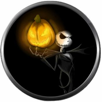 Jack With Glowing Pumpkin Jack O Lantern Halloween Town Nightmare Before Christmas Jack Skellington 18MM - 20MM Charm for Snap Jewelry New Item