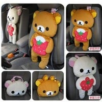 TaoBao Products:The chaomeng San-x Rilakkuma easily bear idle bear Rilakkuma Meng ~ car cushion / backrest - MisterTao.com
