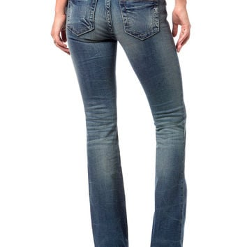 Miss Me Line Dance Simple Light Wash Bootcut Jean