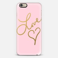 Love Beat Pink iPhone 6 case by Lisa Argyropoulos | Casetify