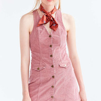 Cooperative Parker Corduroy Button-Down Mini Jumper Dress - Urban Outfitters