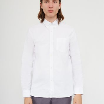Fred Perry Long Sleeve Heavy Oxford Shirt White
