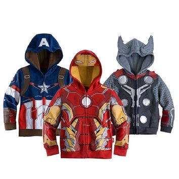 Boys the Avengers Jackets & Coats Children's Outerwear & Coats Super Hero Captain America Jackets Children Clothing