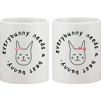 Everybunny Needs a Best Friend Mugs