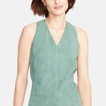 Women's Lauren Ralph Lauren Sleeveless Suede Shirt,
