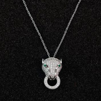 Cartier Woman Fashion Animal Plated Necklace Jewelry-1