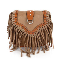 PU Leather Fringe Bag