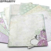 "12sheets/lot 6"" Flowers Pattern Decorative Scrapbooking Kit"